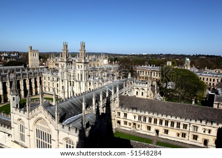 A old  colleges in Oxford - stock photo