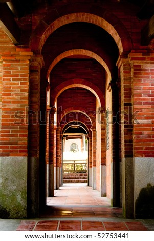 a old corridor - stock photo