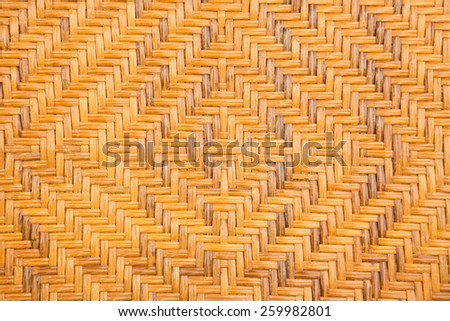 A old handcraft weave wicker texture background - stock photo
