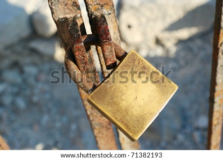 a old lock - stock photo