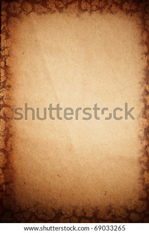 a old paper as a background or texture - stock photo