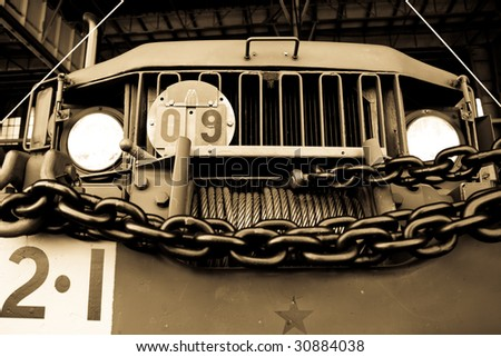 a old truck front - stock photo
