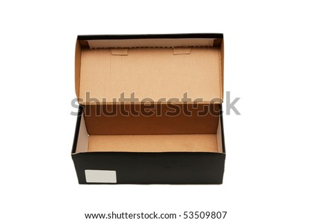 a one black box isolated on white - stock photo