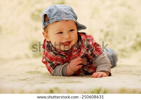 a one cute little baby - stock photo