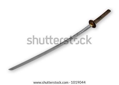 A original japanese samurai sword - katana - stock photo