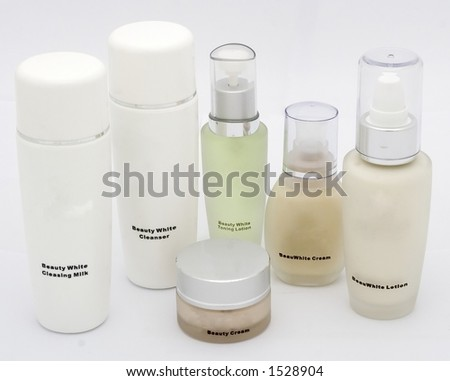 A package of cosmetic prodcuts - stock photo