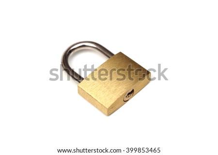 A pad lock - stock photo