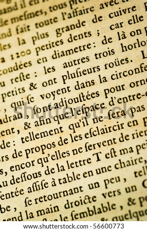 A page of Latin background text - stock photo