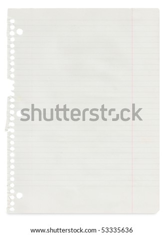 A page ripped off from the notebook - stock photo