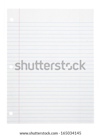 A page ripped off from the notebook isolated on white - stock photo