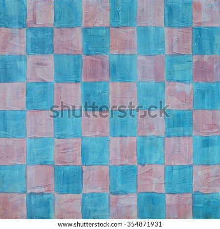 a painted chessboard pattern - stock photo