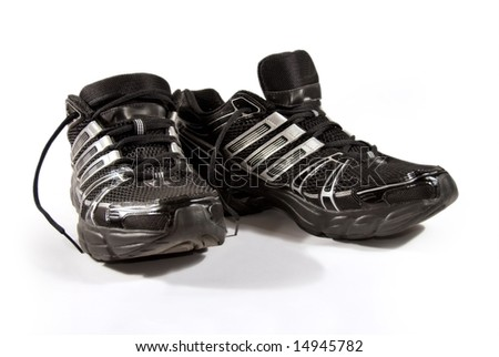 A pair of brand new running shoes - stock photo