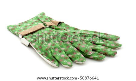 a pair of garden gloves