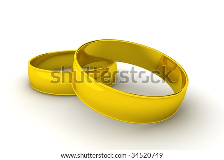A pair of gold rings