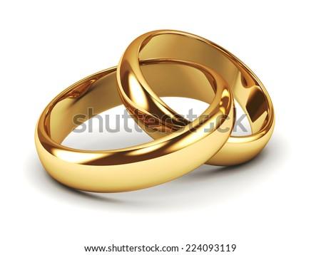 a pair of gold wedding rings - Weddings Rings