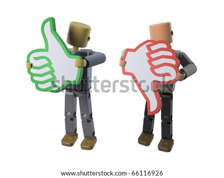 A pair of icons depicting approval or disapproval/ Do's & Don'ts (video also available) - stock photo