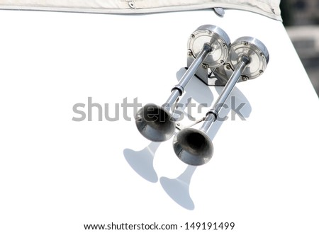 A pair of marine horns - stock photo