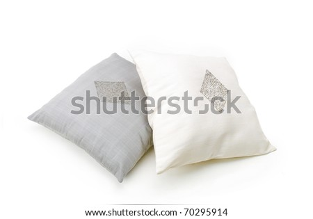 A pair of nice cushion pillow best for your living room isolated