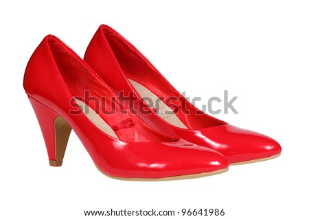 Red High Heels Pump Shoes Stock Photo 93272191 - Shutterstock