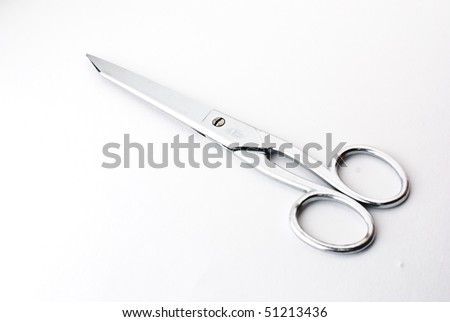 A pair of scissors isolated on a white background