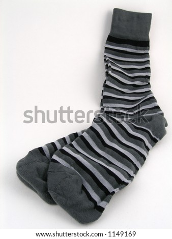 A pair of striped socks - stock photo