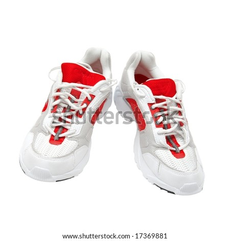 A pair of training shoes isolated on white