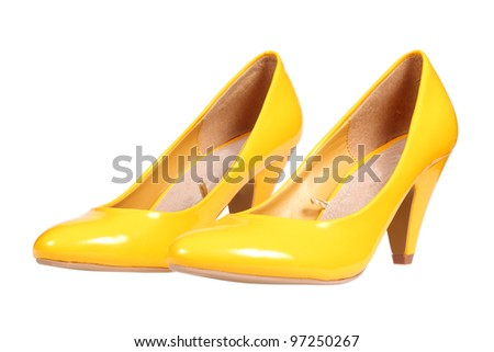 Yellow shoes Stock Photos, Illustrations, and Vector Art