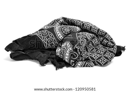 a paisley patterned pareo on a white background - stock photo