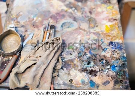 A palette - stock photo