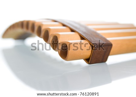 a pan pipes - stock photo