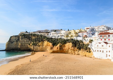 A panorama of Carvoeiro in Algarve region, Portugal, Europe