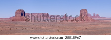 A panorama of Monument Valley, Navajo Nation, Utah - stock photo