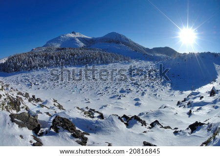 A panorama of the morning - stock photo