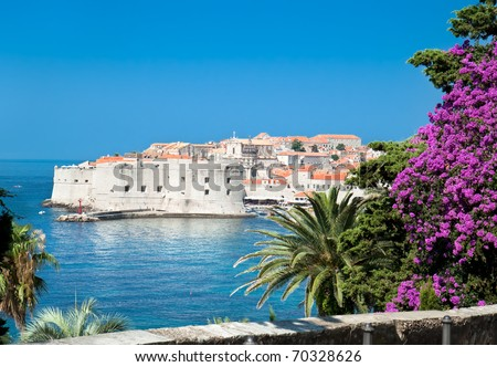A panoramic view of an old city of Dubrovnik, Croatia - stock photo