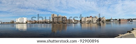 A panoramic view of downtown Wilmington, North Carolina