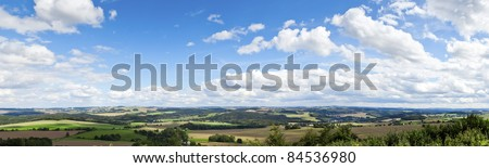 A panoramic view of the beautiful landscape in Saxon Germany - stock photo