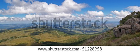 A panoramic view of the Eastern Cape from the Amatola Mountains