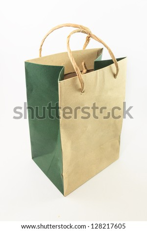 A Paper bag on white background - stock photo