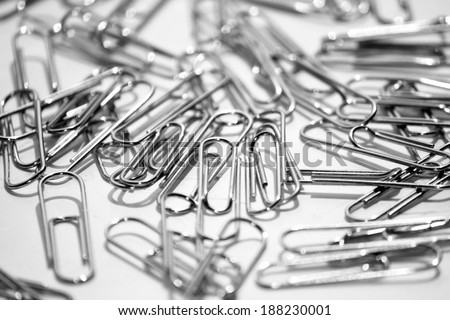 A paper clip on white background