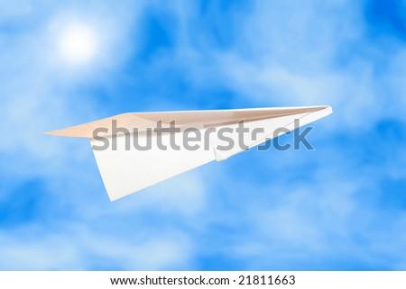 a paper plane - stock photo