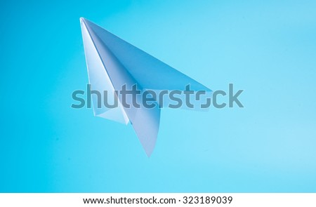 A paper plane in the sky
