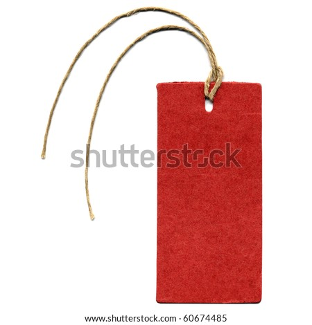 A paper tag or label or sticker - stock photo
