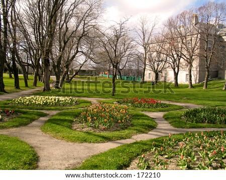 A park in St.John's, Newfoundland - stock photo