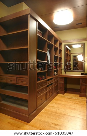 a part of closet - stock photo