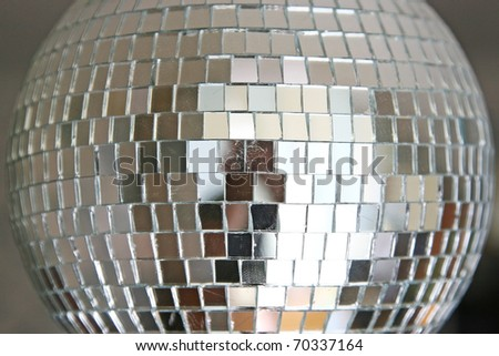 a part of disco ball - stock photo