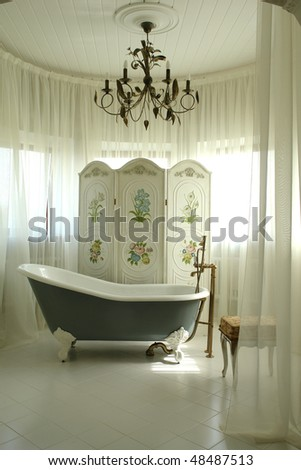 a part of interior of bathroom - stock photo