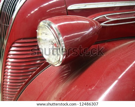 a part of vintage car - stock photo