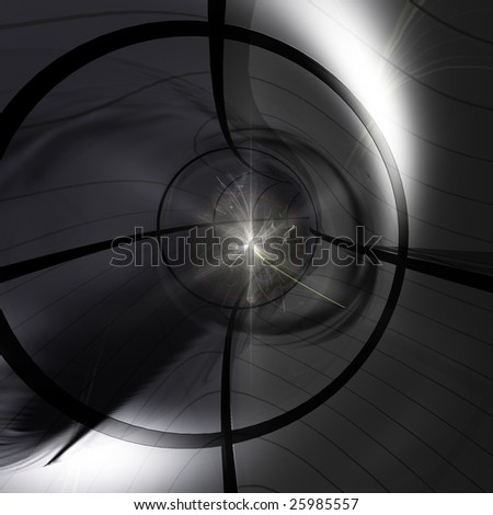 A Particle collision in the Large Hadron Particle Accelerator. - stock photo