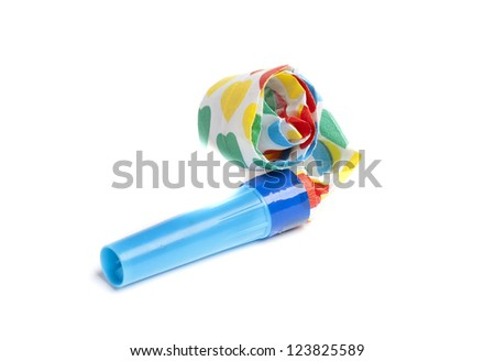 a party blower, typical subject for celebrations - stock photo