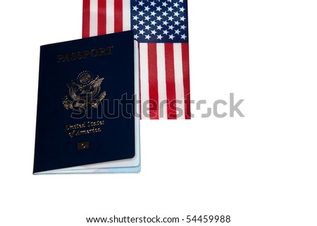 A passport is a document, issued by a national government, which certifies, for the purpose of international travel, the identity and nationality of its holder. - stock photo